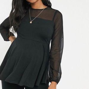 ASOS Maternity nursing mesh insert top
